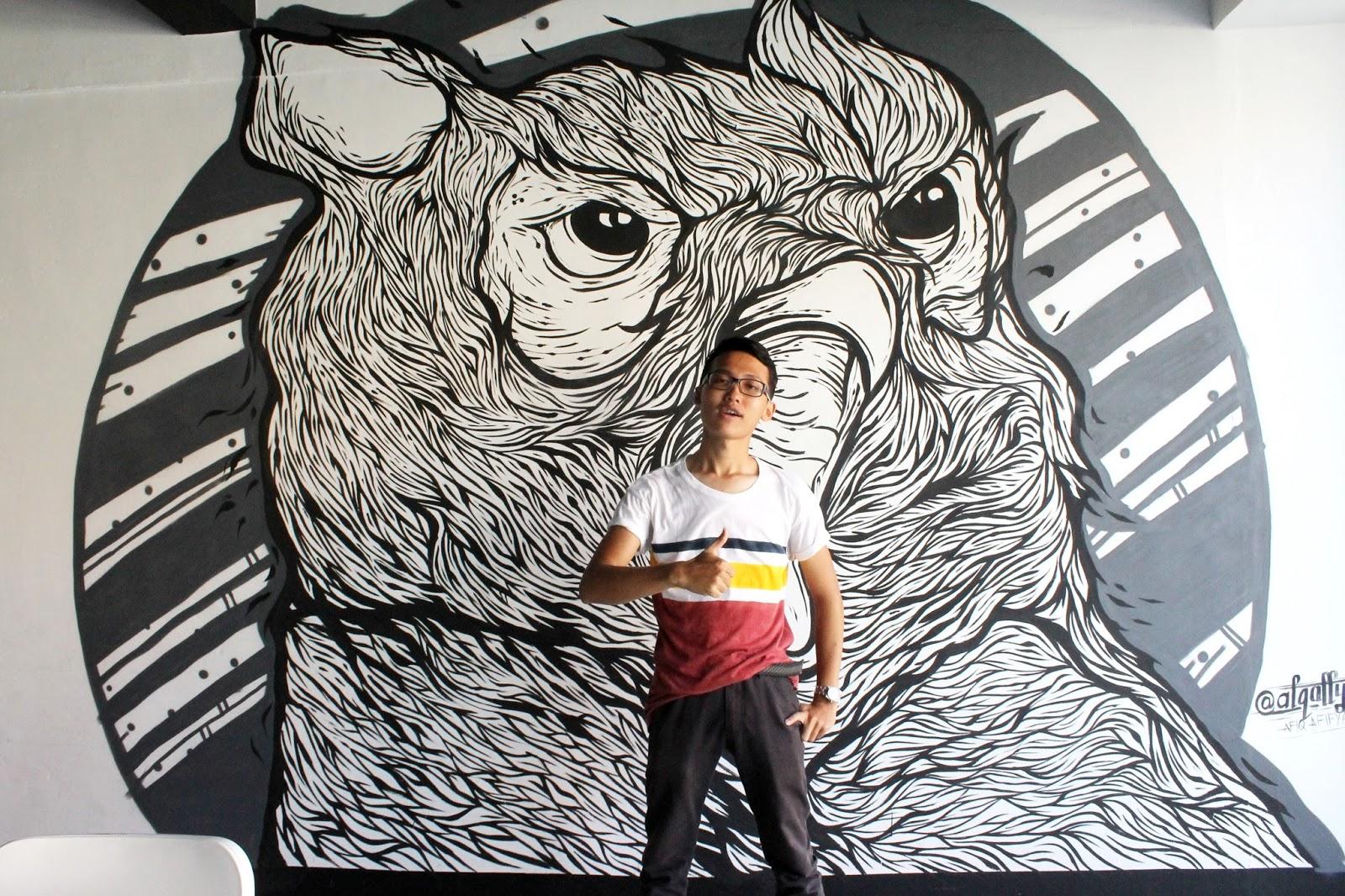 Billionaire 39 s concept cuisine grind shack melaka yang for Mural yang cantik
