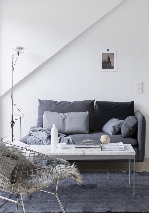Small loft. Pella Hedeby for Lenca Properties, photographer Sara Medina Lind.