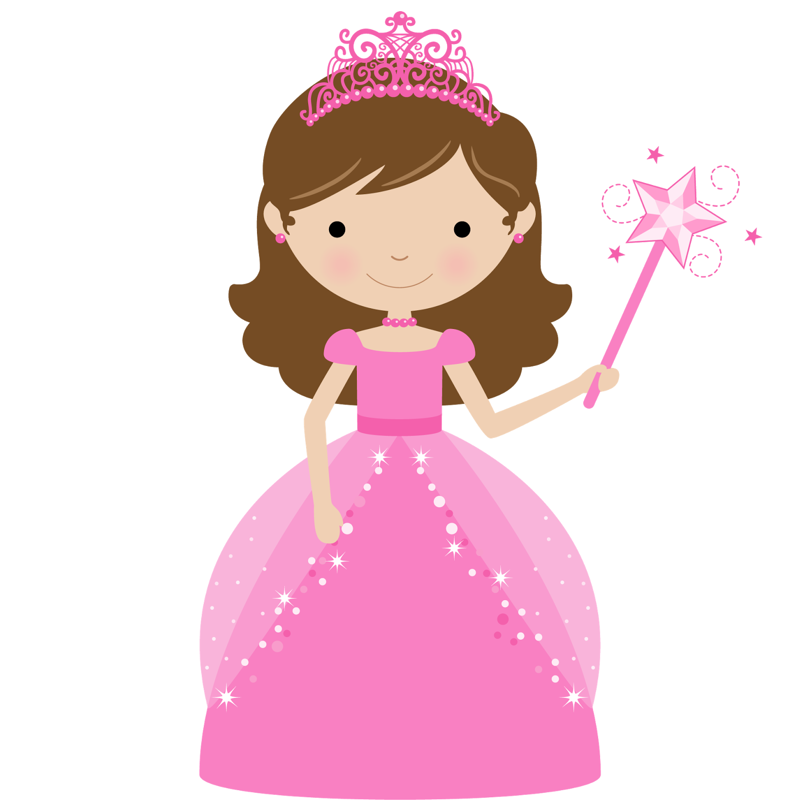 Princess And Cupcake Clipart