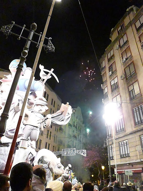 Children's Falla during Las Fallas in Valencia, Spain