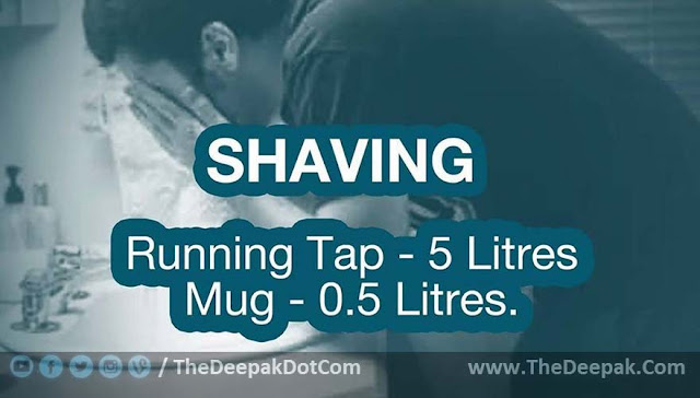 Water Saving Suggestion - While Shaving