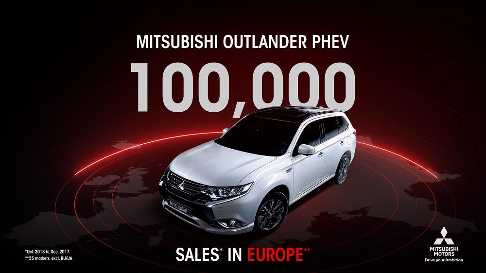 Mitsubishi Outlander PHEV hits 100,000 sales in Europe