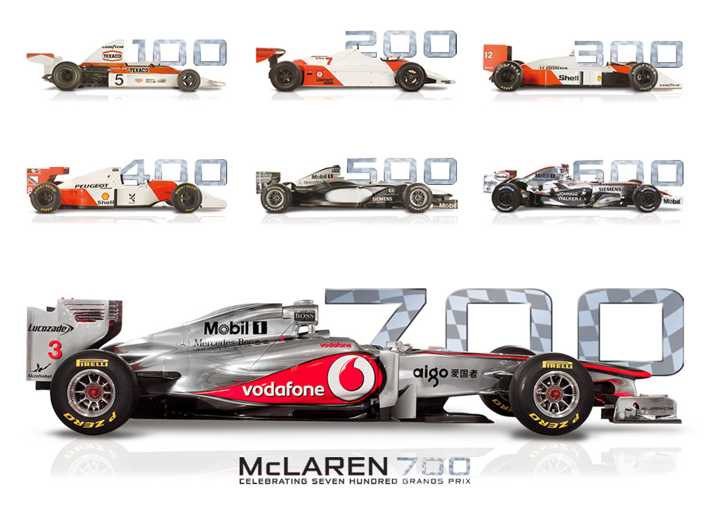 mclaren ready to celebrates 700th formula 1 race. Black Bedroom Furniture Sets. Home Design Ideas