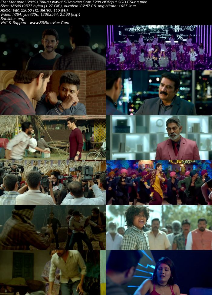 Maharshi (2019) Telugu 720p HDRip x264 1.3GB ESubs Movie Download