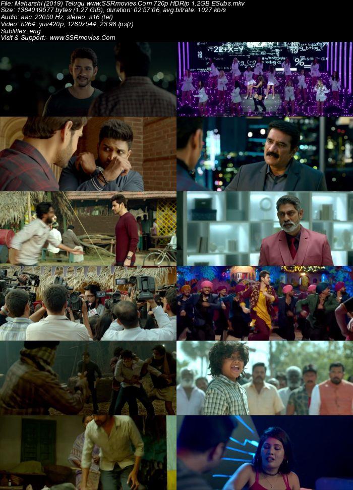 Maharshi (2019) Telugu 480p HDRip x264 500MB ESubs Movie Download