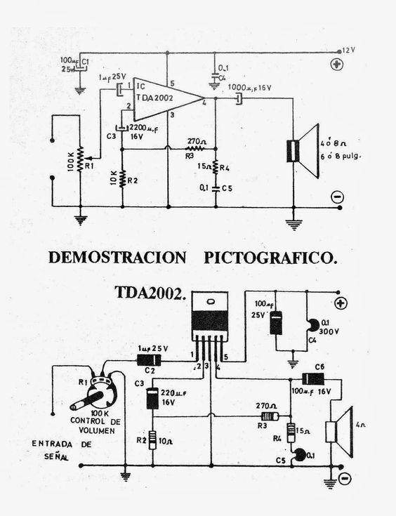 Tda7222 linear-circuito
