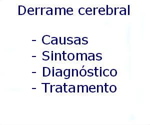 Derrame cerebral causas sintomas diagnóstico tratamento prevenção riscos complicações