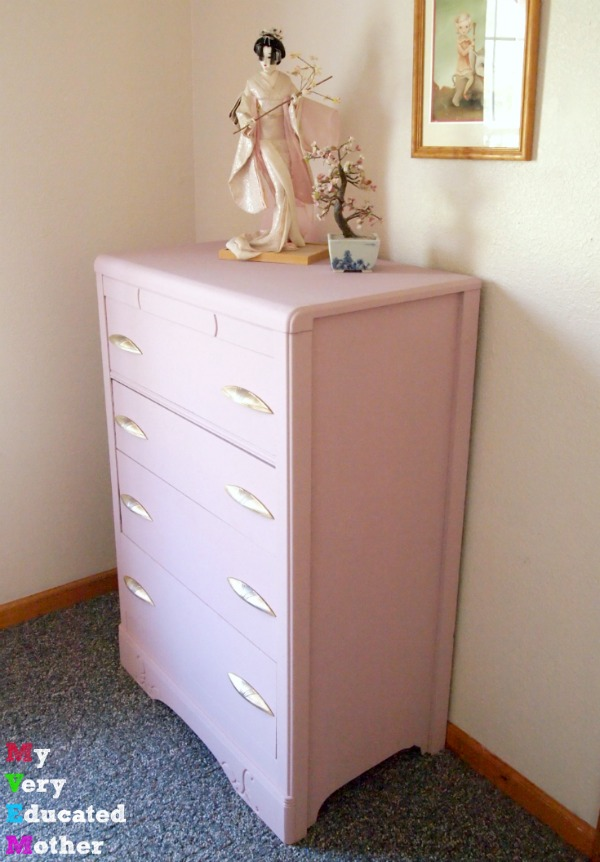 One piece down, one more to go before we give our daughter's bedroom a makeover in the prettiest shade of pink.