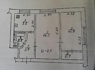2-комнатная в Дзержинском районе по ул. Вокзальная, 22 на 1/4 эт. дома