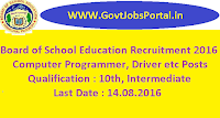 Board of School Education Recruitment 2016