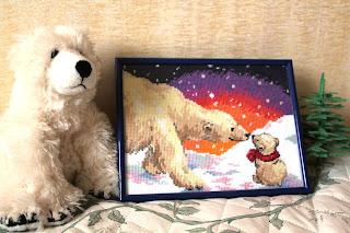 вышивка белые медведи