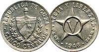 5 cents - Cuba - 1946
