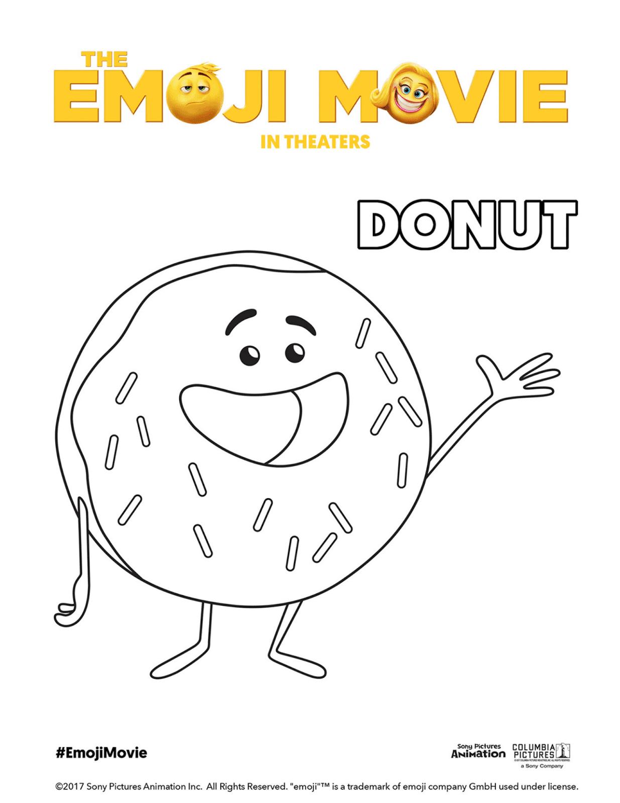 aprende brincando colorir personagens do filme emoji