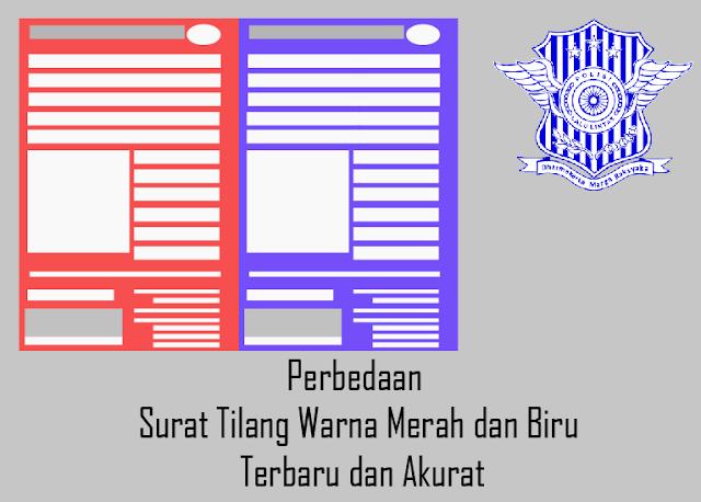 Perbedaan Surat Tilang Warna Merah dan Biru