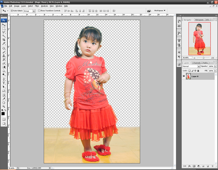 Cara memotong background foto dengan Photoshop