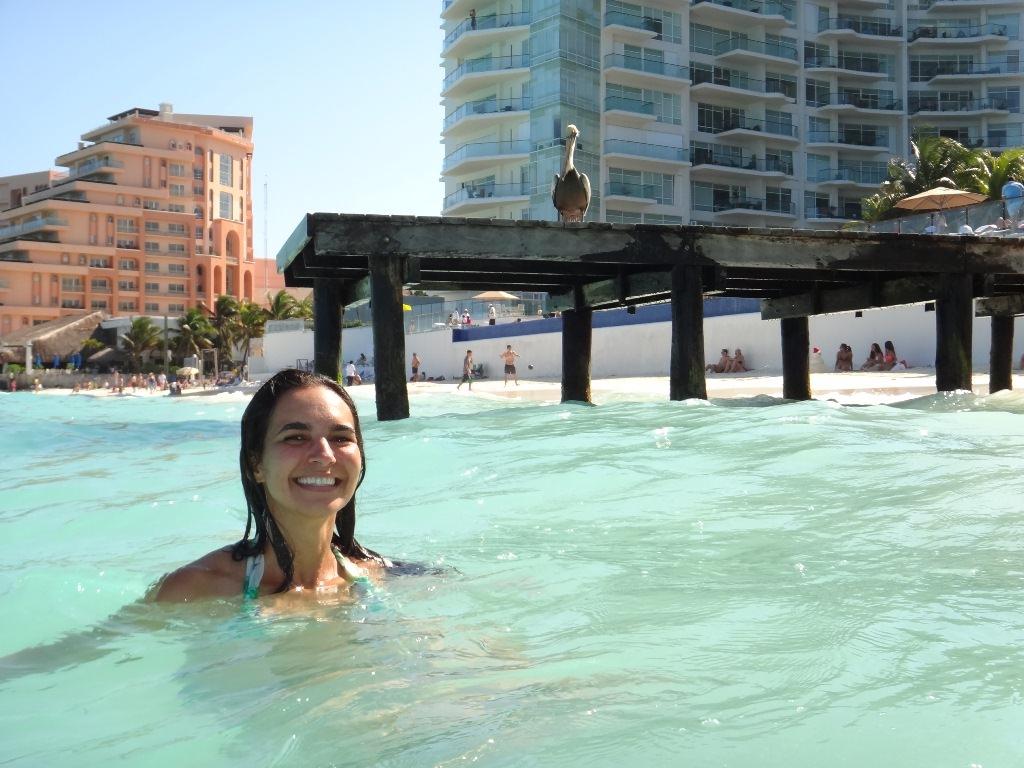 Pelicano em Cancún