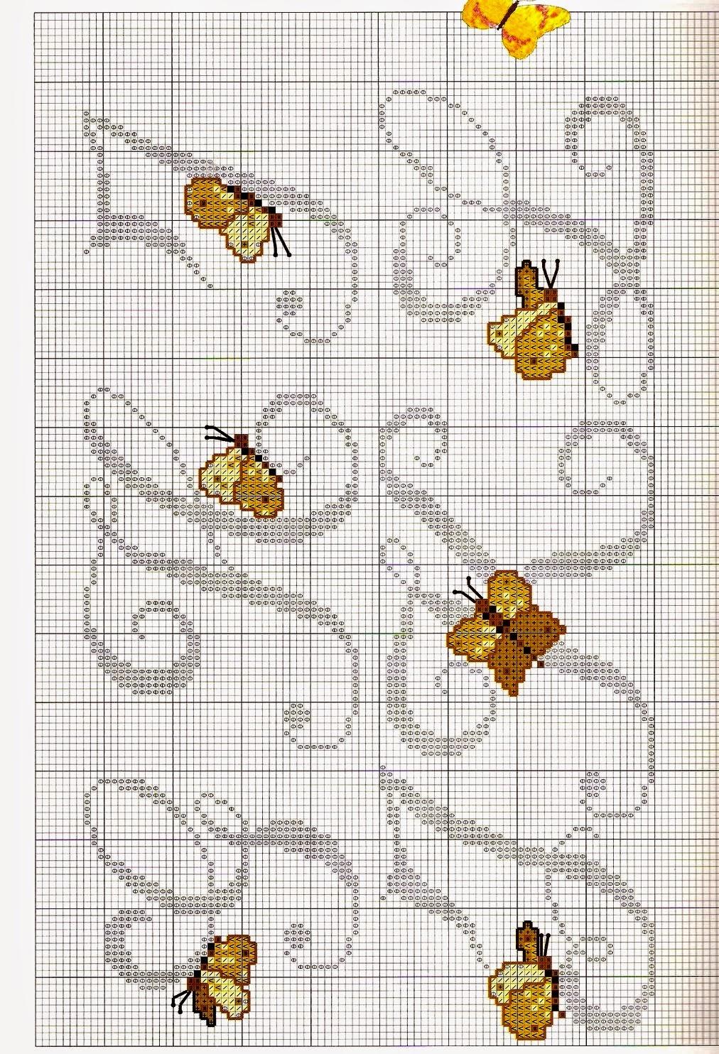 Ricami e schemi a punto croce gratuiti lettere alfabeto for Farfalle punto croce schemi gratis