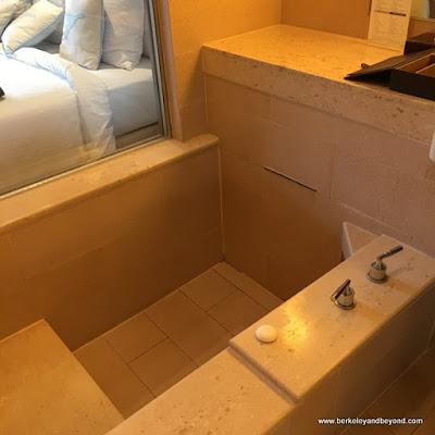guest room bathtub at Fleur de Chine, Sun Moon Lake hotel