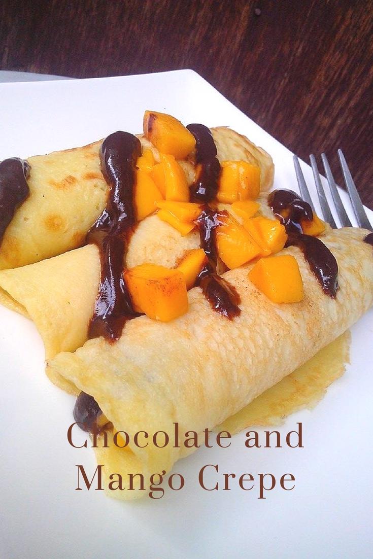 Chocolate and Mango Crepe Recipe