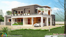 Square Flat Roof House Plans