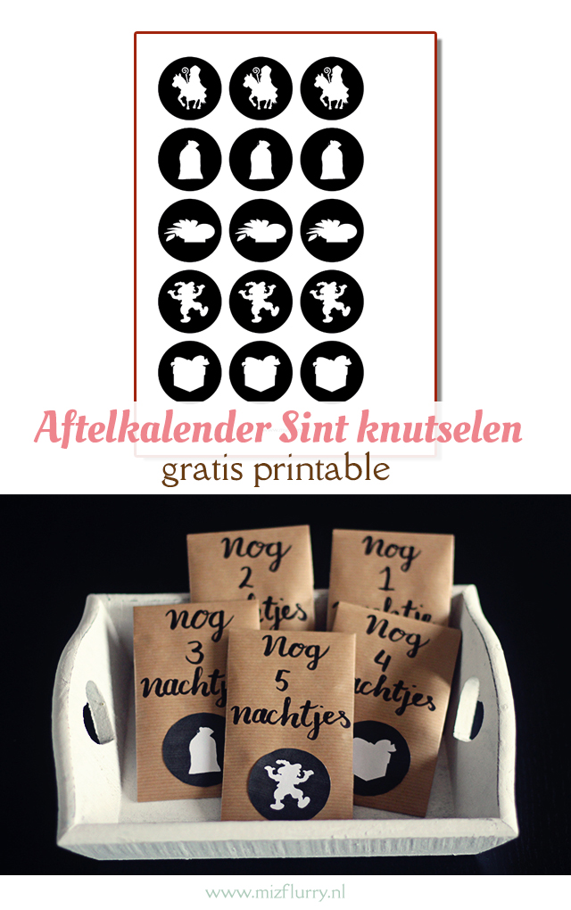 aftelkalender sinterklaas gratis printable pinterest