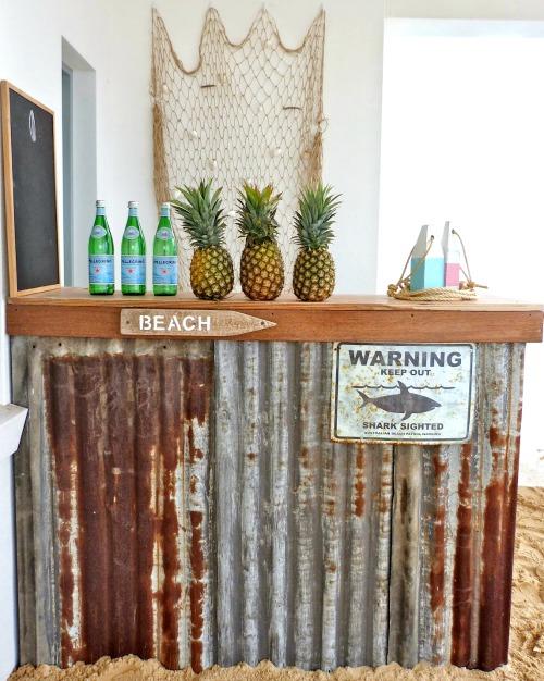 Beach & Tiki Bar Ideas for the Home & Backyard - Coastal Decor Ideas on backyard bar lighting, backyard bar room, backyard bar garage, backyard bar tile, backyard bar house, backyard bar chimney, backyard bar deck, backyard bar framing, backyard bar pool,