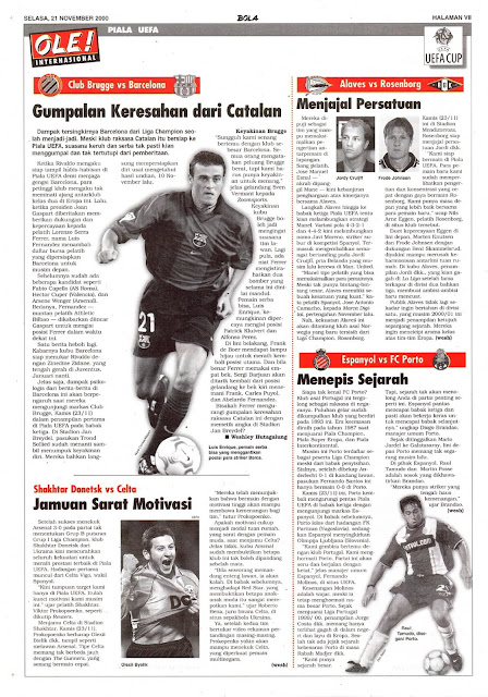 UEFA CUP 2000 CLUB BRUGGE VS BARCELONA LUIS ENRIQUE