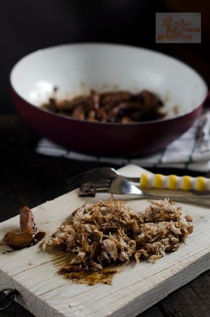 preparación de los canelones de pollo teriyaki con toque de tabasco3