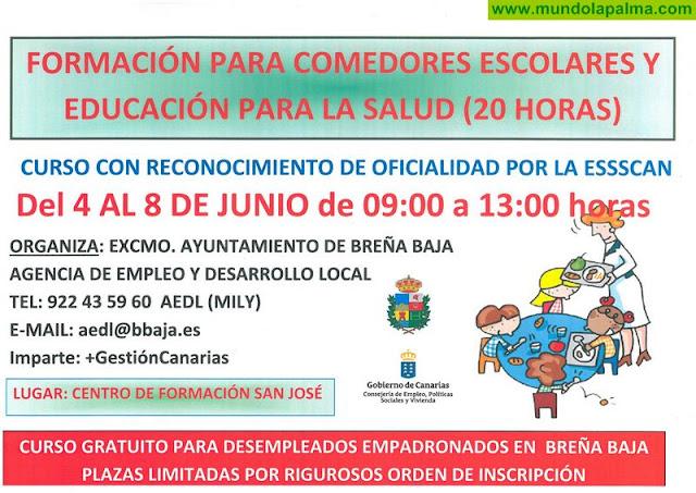 BREÑA BAJA: Cursos gratuitos para personas desempleadas