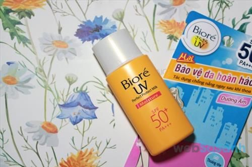 đánh giá Bioré UV Perfect Block Milk Cool SPF50/PA+++
