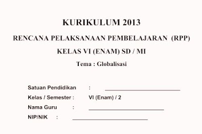 RPP Kurikulum 2013 Kelas 6 SD/MI Semester 1