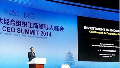 Pidato Joko Widodo di Cara Internasional Asian Pasific Economic Coorporation