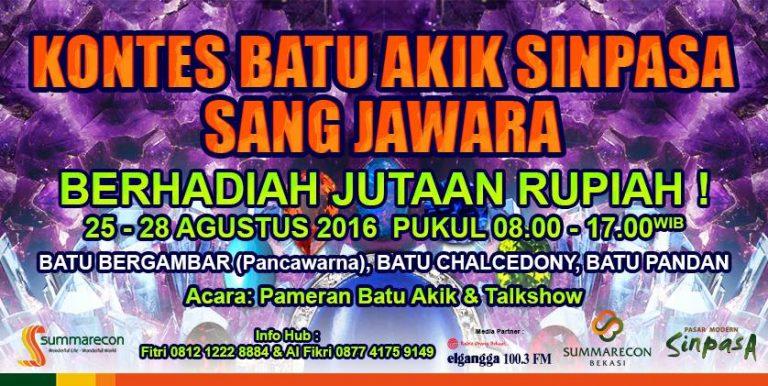 Kontes Batu Akik Bekasi 2016