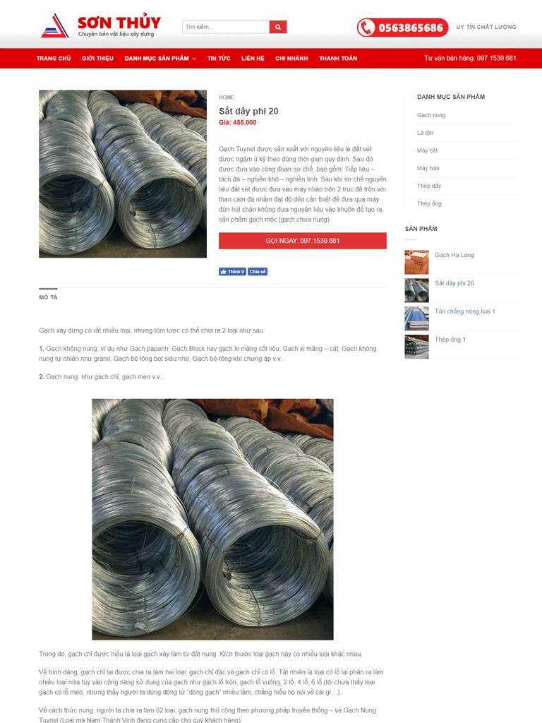 Template blogspot vật liệu xây dựng - Ảnh 2