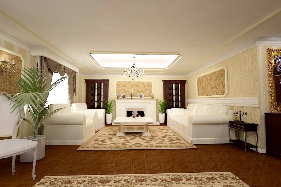 Design interior living vila clasica Galati