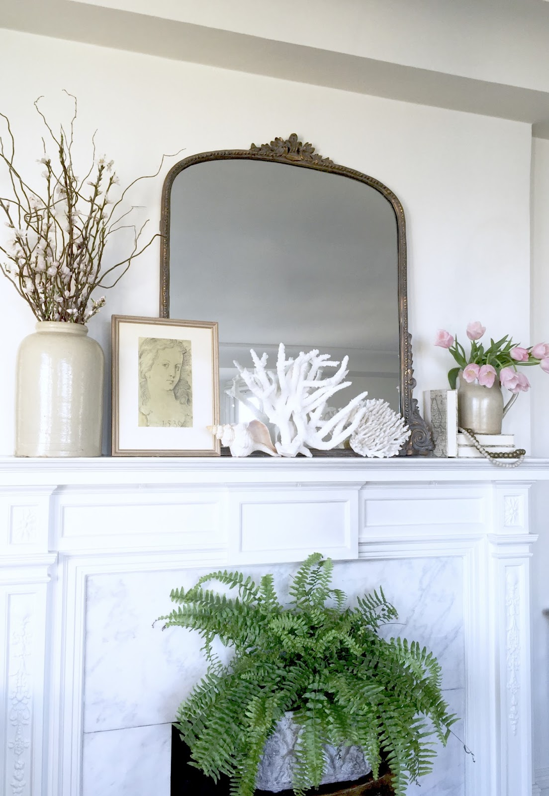 project design how to style your spring mantel two ways classic