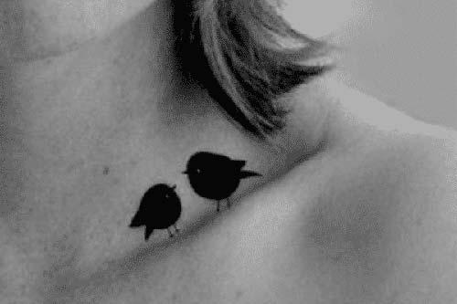 köprücük kemiği kuş dövmeleri collarbone bird tattoos