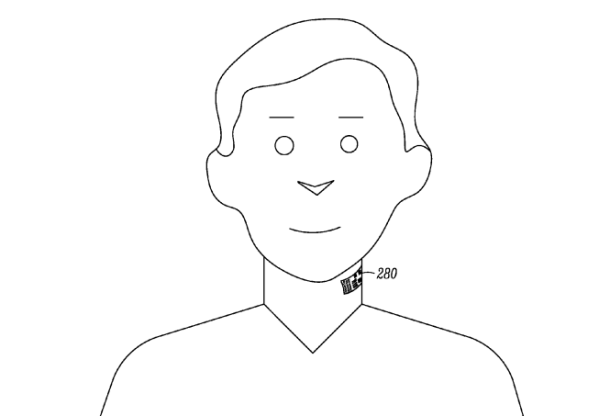 Motorola has patented an electronic tattoo sticker that is placed on the neck: it allows you to communicate in a noisy place, hands free or to detect lies.
