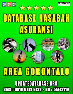 Jual Database Nasabah Asuransi Gorontalo