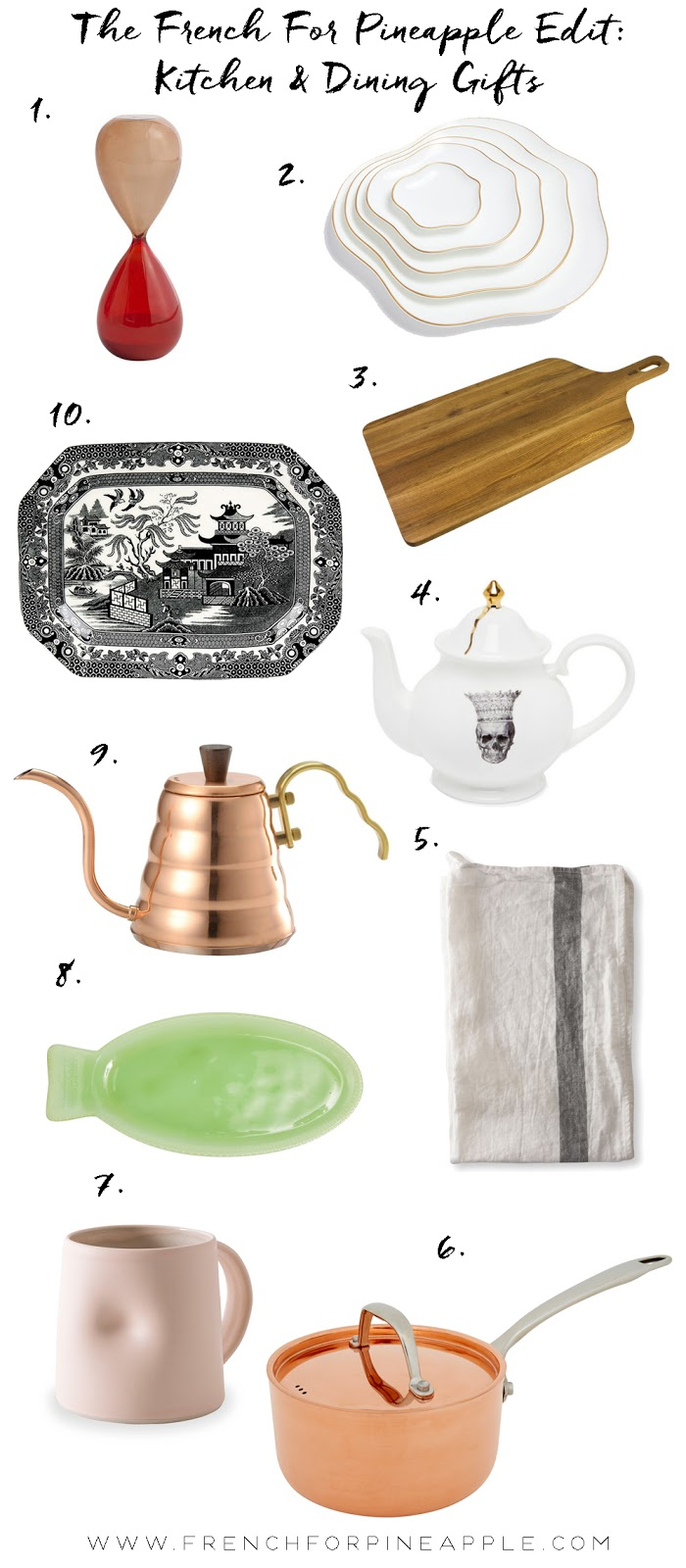 French For PIneapple - Kitchen & Dining Christmas Gift Guide