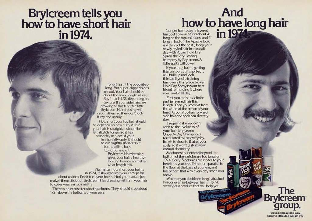 Vintage Adverts of Hair Necessities for Men From the 1970s