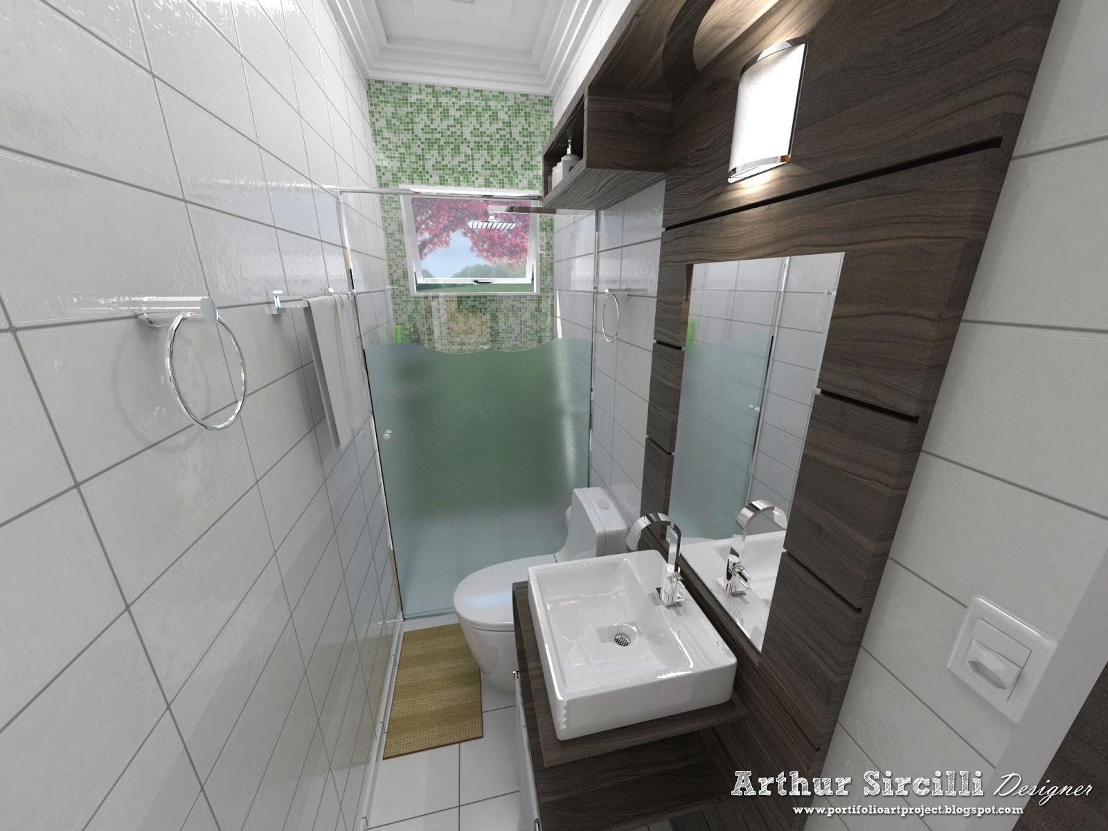 Banheiro Pequeno ArtProject #6B6148 1600 1200