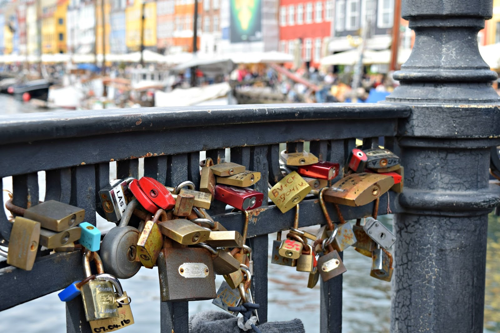 Love Padlocks at NyHavn in Copenhagen