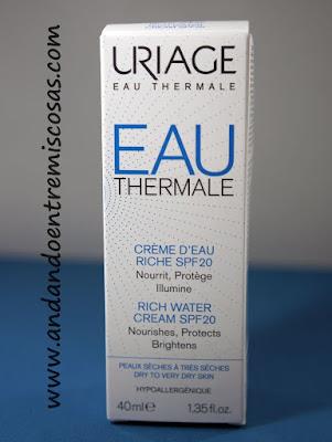 Crema de agua rica SPF20 de Uriage