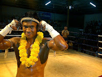 buakaw with smile on his face