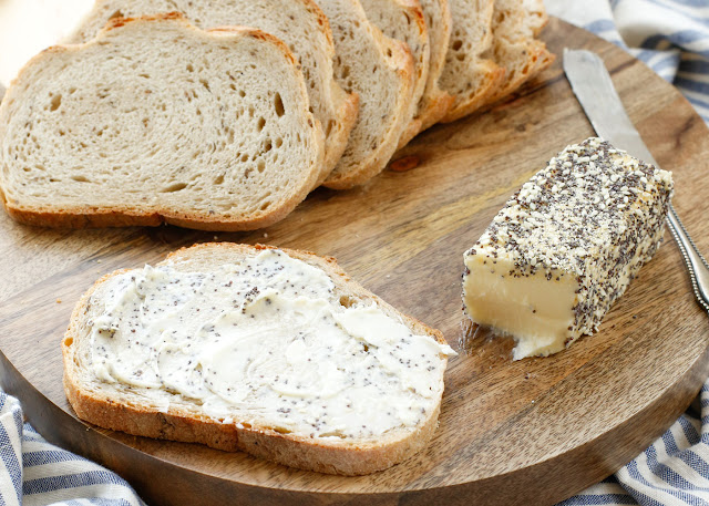Everything Butter recipe - creamy butter swirled with all the spices you'd find on an everything bagel!