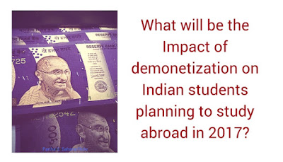 What is the impact of demonetization and Trump on Indian students studying abroad