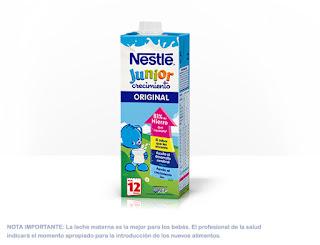 Prueba la leche Nestlé Junior Crecimiento