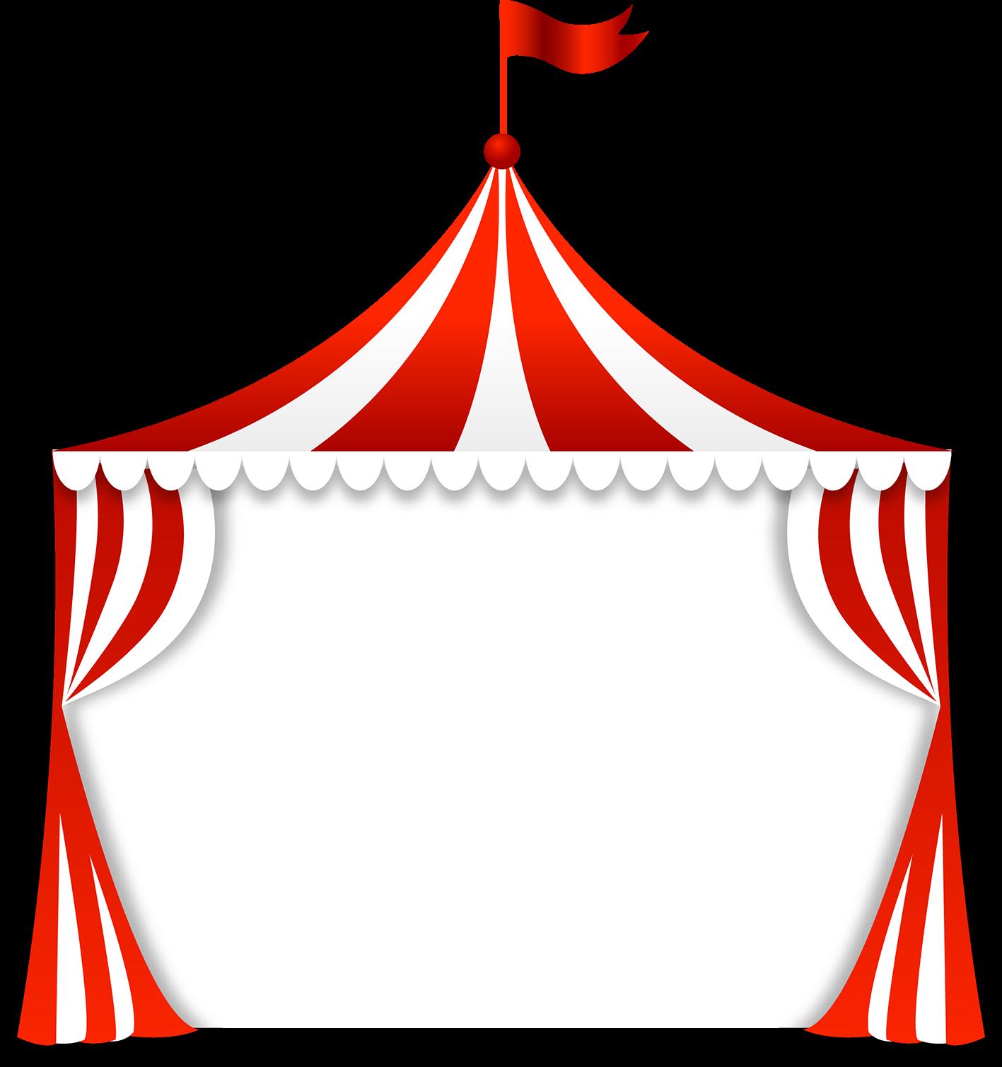 Molduras em png tema circo - Cantinho do blog