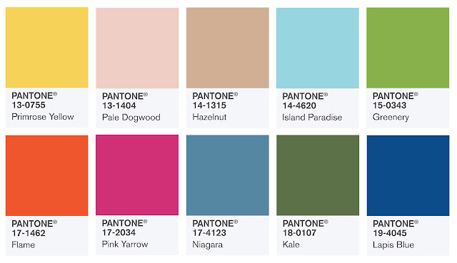 Pantone Colors for Spring 2017
